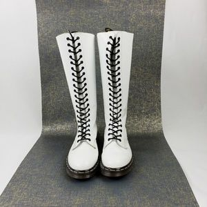 Dr Martens 20 Eye Tall Boot White UK 8 US L10 M9